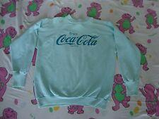 Vintage shirt Coca Cola Enjoy Coke Light Blue 80's Sweatshirt Size M