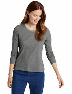 EX-M-amp-S-Marks-And-Spencer-Decorative-Neck-Long-Sleeve-Jersey-Top