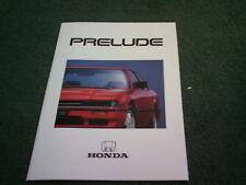January 1987 HONDA PRELUDE EX & 2.0i-16 16 VALVE COUPE - UK BROCHURE Ted Johnson