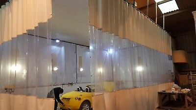 White Clear Workshop Spray Painting Room Curtains