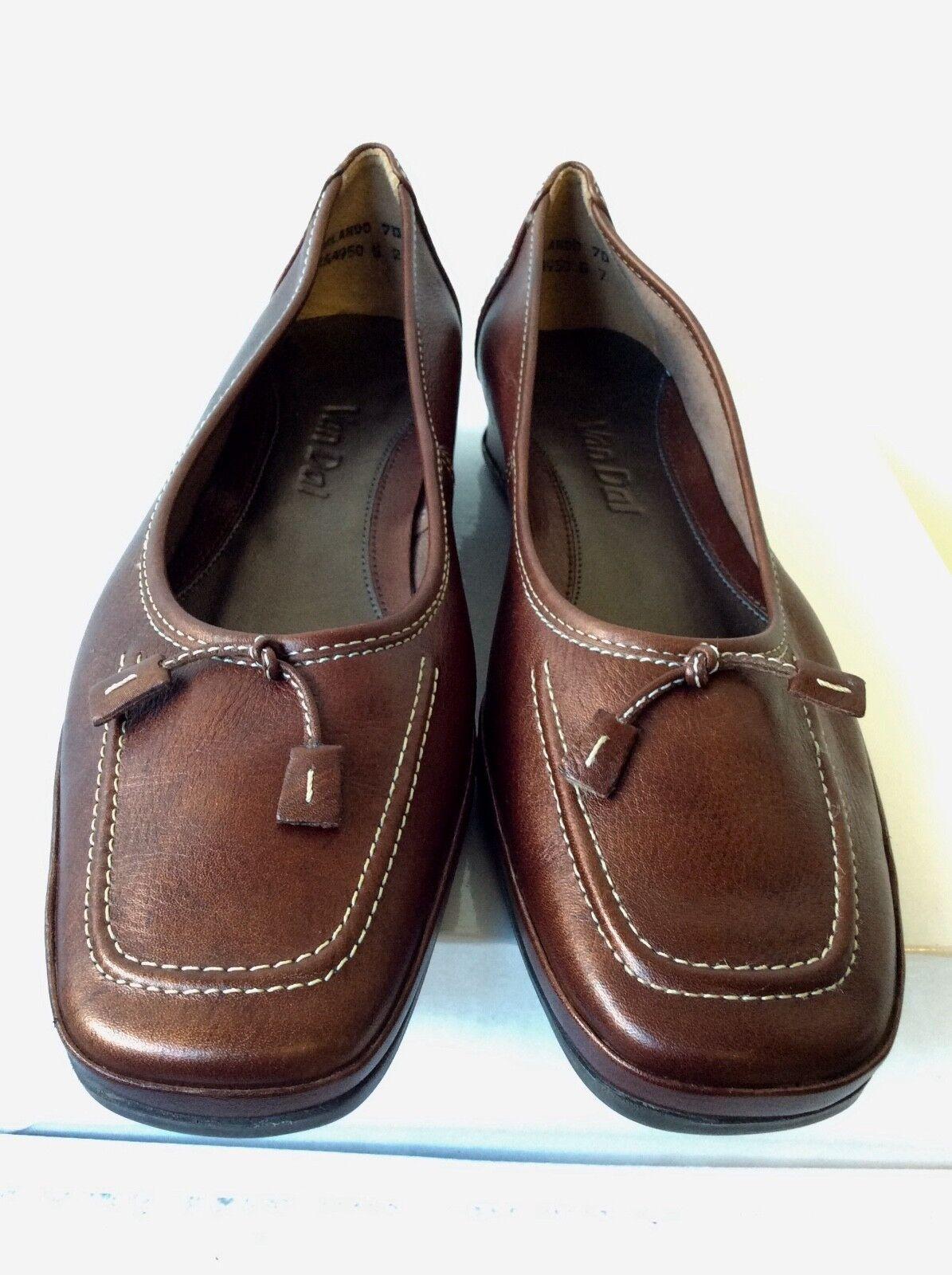 Brand New Van Dal Orlando bronze leather Chaussure s     7/40 ec322b