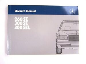 1986 Mercedes 300sel 300se 260se Owners Manual Euro W126 New Original 1987 1988 Ebay