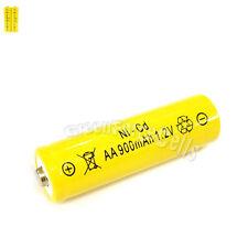2 Pcs AA 2A 900mAh 1.2V Ni-Cd Ni-Cad Solar Light Rechargeable battery Yellow
