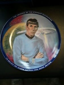 1984-Star-Trek-Science-Officer-Spock-Collectors-Plate-by-Ernst-Low-Production