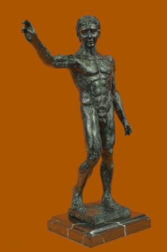 Rodin Man Waiving Bronze Sculpture Vintage Style Hands Auguste Figure Statue T