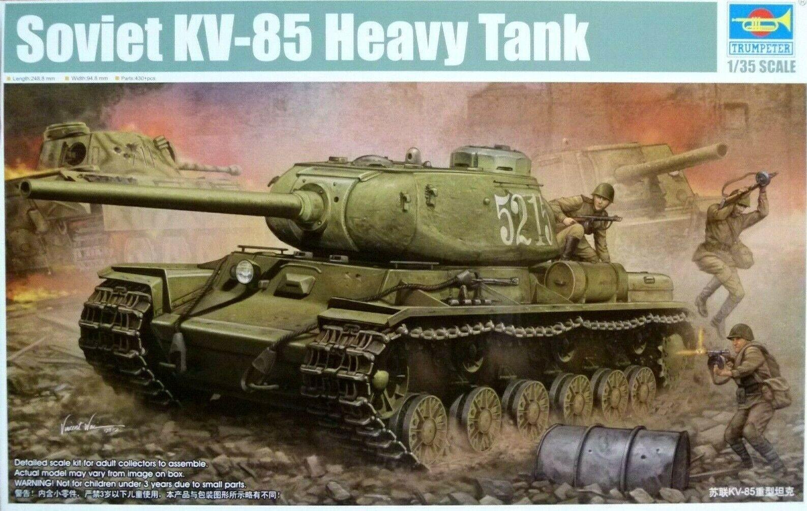 Trumpeter 1 35 Soviet KV-85 Heavy Tank Model Kit