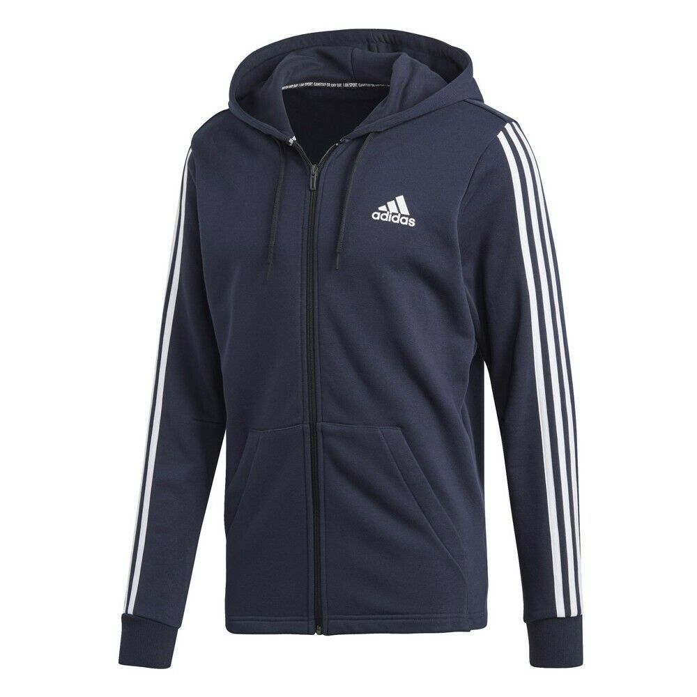 Adidas 3S Full Zip Hoodie – Navy (Größe Medium) - NEW with tags