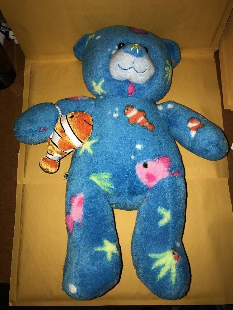 Nuovo Build a orso Deep Sea Aqua Aqua Aqua blu 16  Teddy Nemo Clownfish Stuffed Plush giocattolo 9f2f53