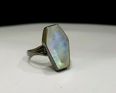 Natural Copper Turquoise Ring Coffin Ring Silver Rose Gold 925 Solid Sterling Silver Ring 22K Yellow Gold Fill Womens Ring Coffin