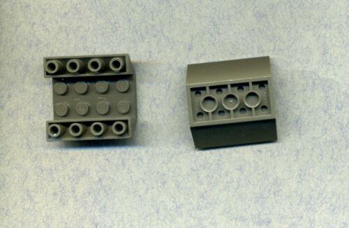 4 x 4-45° 2 Stück Lego--4854--Schrägstein --Grau//OldDkGray Negativ