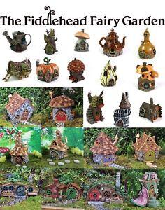 Details about Fiddlehead Fairy Garden Houses Outdoor Suitable Opening Doors  Weatherproof