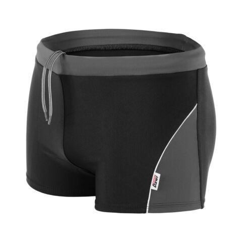 Dawi Swimwear Boxers 3XL Badehose Schwimmhose chlorresistent Schwarz//Anthrazit