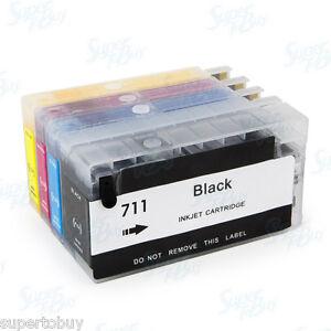 Non-OEM-Refillable-Ink-Cartridge-SET-for-HP-711-Designjet-T120-T520-HP711