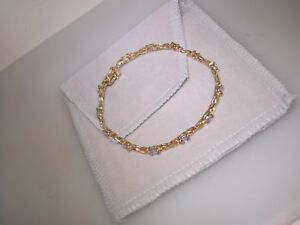 LOVELY-10K-SOLID-GOLD-APPROX-2-5-CTW-TANZANITE-BRACELET-NEW-WITHOUT-TAGS