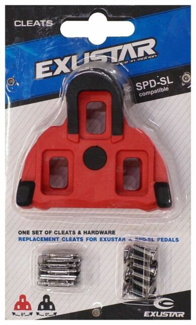 EXUSTAR RSL11 SPD-SL ROAD RED CLEATS /&Rubber Pads 4.5d Float fit SHIMANO SM-SH11