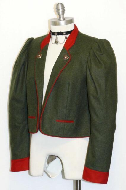 Green Loden Wool Jacket German Women Hunting Sport Winter Dress Suit