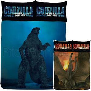 Officiel-Godzilla-Ghidorah-Set-Housse-de-Couette-Double-King-Of-The-Monstres