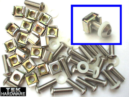 20 Pack Including Screws M6 CAGE NUTS FOR 19 INCH RACK.