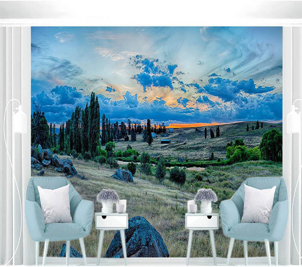 Beauty Of Hills 3D Full Wall Mural Photo Wallpaper Printing Home Kids Decor