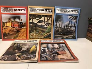 Train-Railroad-NARROW-GAUGE-AND-SHORT-LINE-GAZETTE-MAGAZINE-2007-5-Issues-Lot