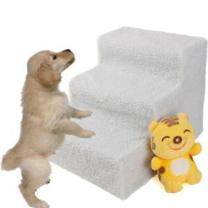 Soft-Pet-Stairs-amp-Ramp-Cat-Step-Bed-Ladder-Dog-Stair-Sofa-White