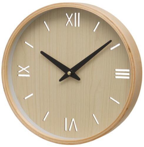 L/'unité Brora CASE chiffre romain et bâton cadran horloge murale 26 x 26 x 3 cm bois