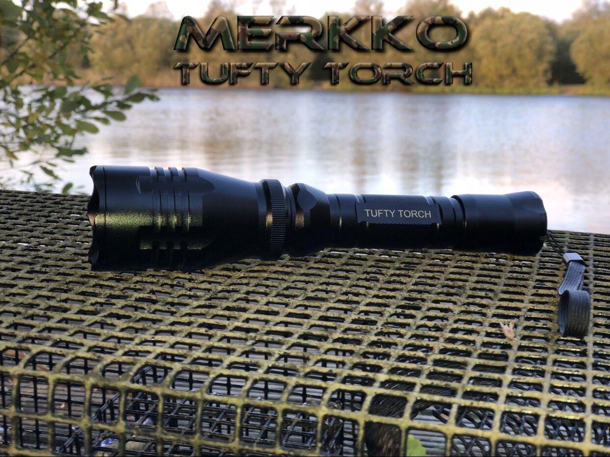Merkko Tufty Torcia ® Pesca della Carpa Custodia   Cappello Beanie  Bivvy LUCE COMBO