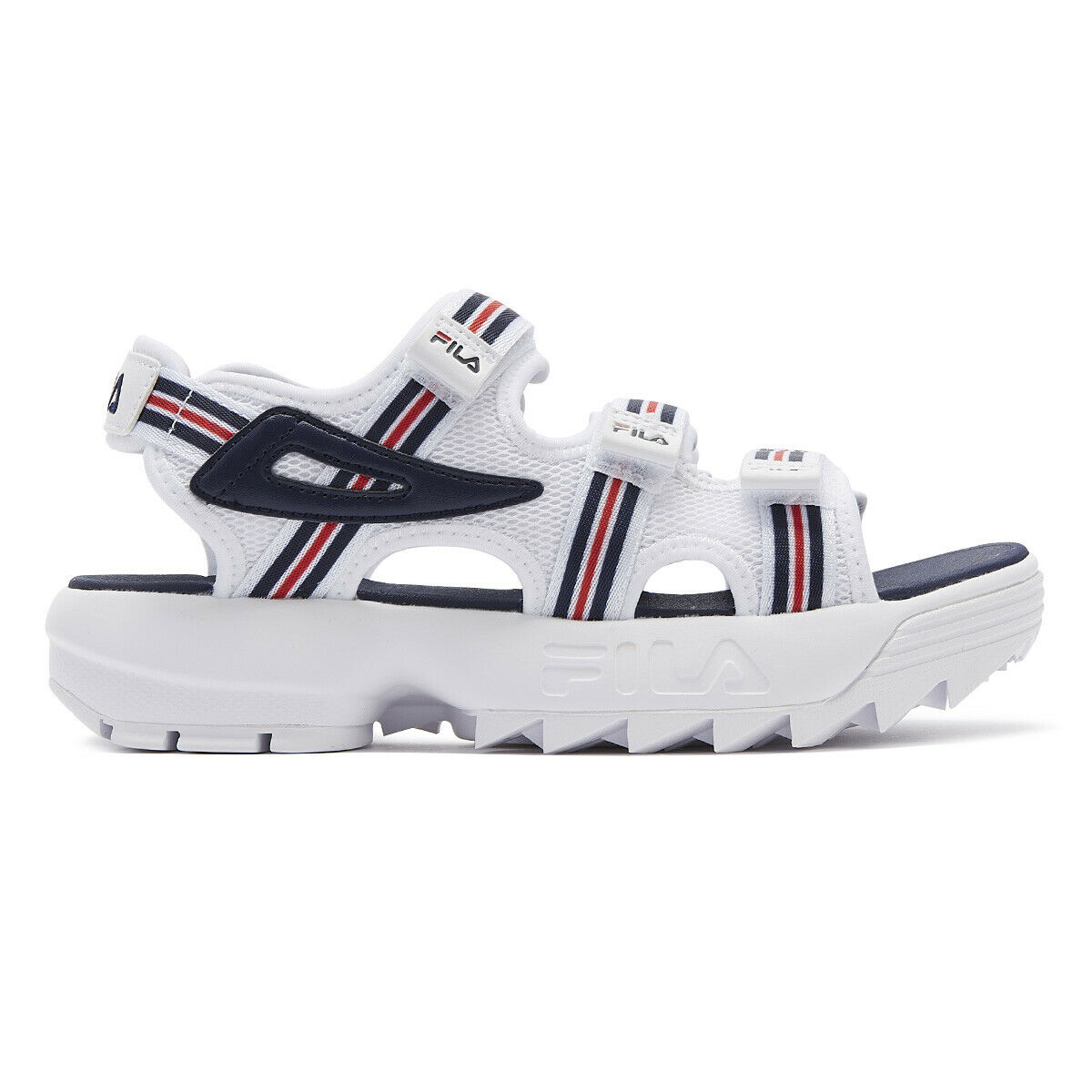 Fila Disruptor Hs Womens White   Navy   Red Sandals Ladies Summer shoes