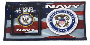 U.S. Navy USN Ship Emblem USA Military Dual Magnet (Car / Fridge / Other)