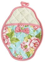 Scalloped Potholder Cottage Kitchen Rose Floral By Jessie Steele ( Nwt)