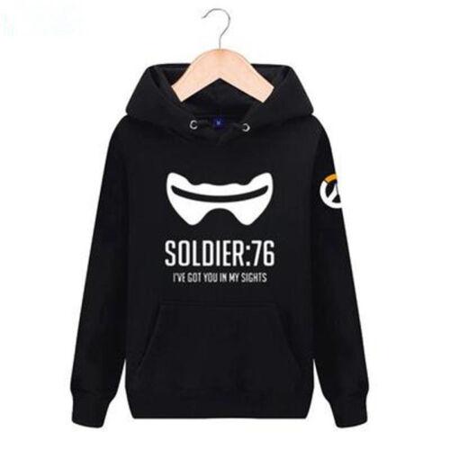 OW Overwatch Lucio SOLDIER 76 Sweater Hoodie Winter Jacket Tops Coat Outwear Hot