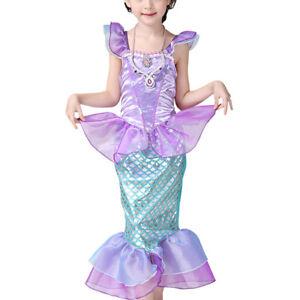 b8f10fb4dc4 Filles La Petite Sirène Costume Déguisement Ariel Princesse Mariage ...
