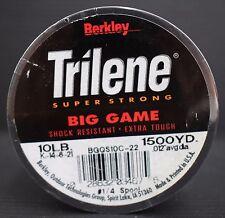 "Berkley Trilene Super Strong Big Game Monofilment Fishing Line 10lb 0.012"" dia"