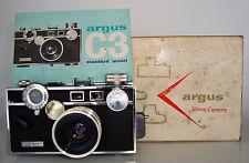 WORKING ARGUS C3 CAMERA w/ ORIGINAL BOX & MANUAL
