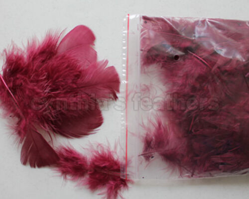 "80~120 counts Burgandy 3~4/"" Turkey Plumage Feathers for crafting 0.35Oz 10g"