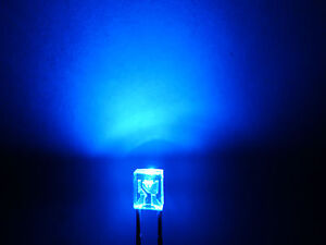 10pcs-2x3x4mm-BLUE-Water-Clear-LED-Lamps-With-12v-Free-Resistors-234B-amy