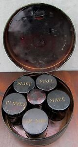 19TH-CENTURY-SHAKER-TOLEWARE-KITCHEN-SPICE-CANISTER-SET-SPICE-BOX