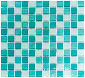 Mosaïque carreau translucide verre vert cuisine mur toilette 72 ...