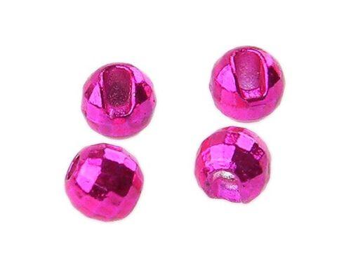 Reflex Slotted Tungsten Beads Fliegenbindematerialien Metallic Pink 10 Stück