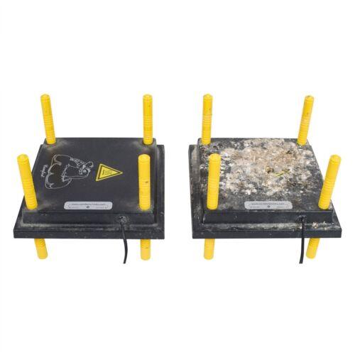 Wärmeplatte 40x40cm Küken mit Schutzabdeckung Aufzucht Vogelwärmer Geflügel
