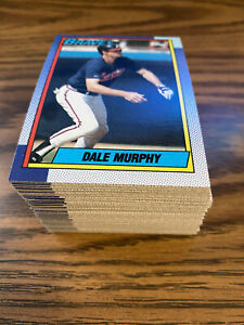 (90) 1990 Topps #1750 Dale Murphy Atlanta Braves NM-MT+ Lot