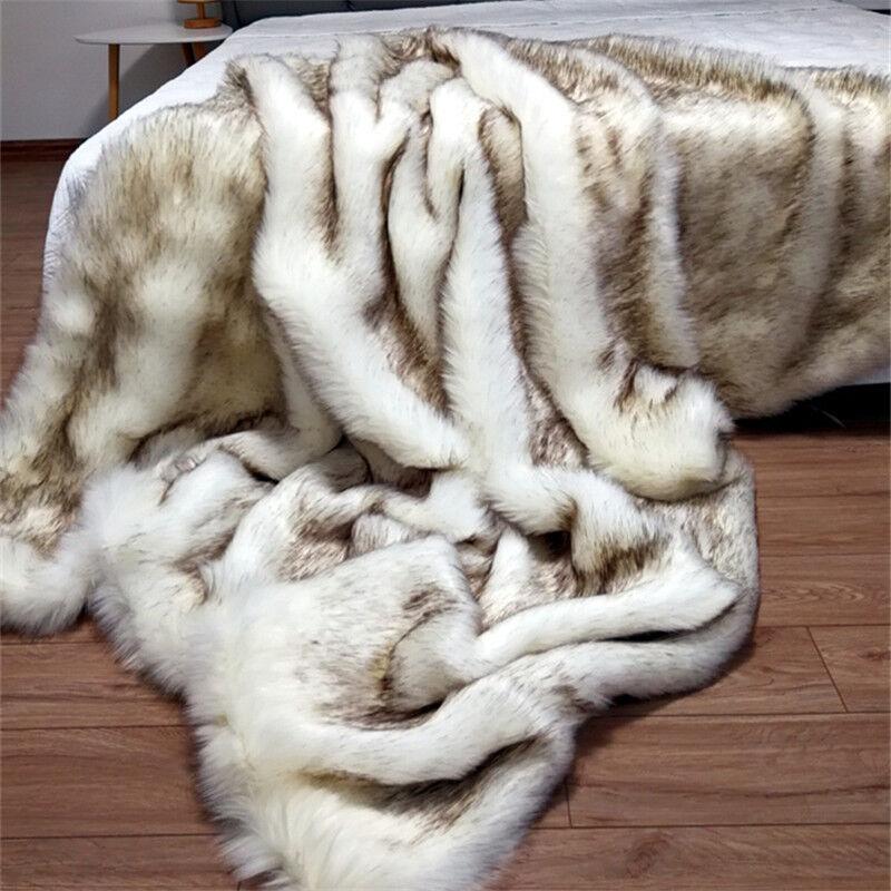 Fur blanket Long villus blanket Faux fur blanket & throws quilt super soft warm