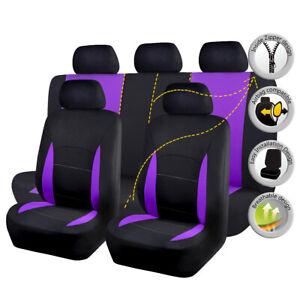 New-Car-Seat-Covers-Set-Washable-Protectors-Bench-Split-40-60-60-40-SUV-Purple