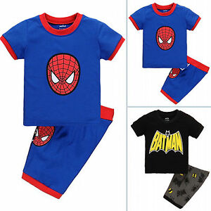 59d24780c Marvel Superhero Kids Boys Outfits Batman Spider-man Casual Shirts + ...