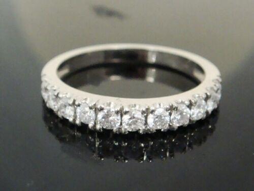 0.65 Ct 14K White Gold Diamond Wedding Ring Band Engagement Anniversary Pave