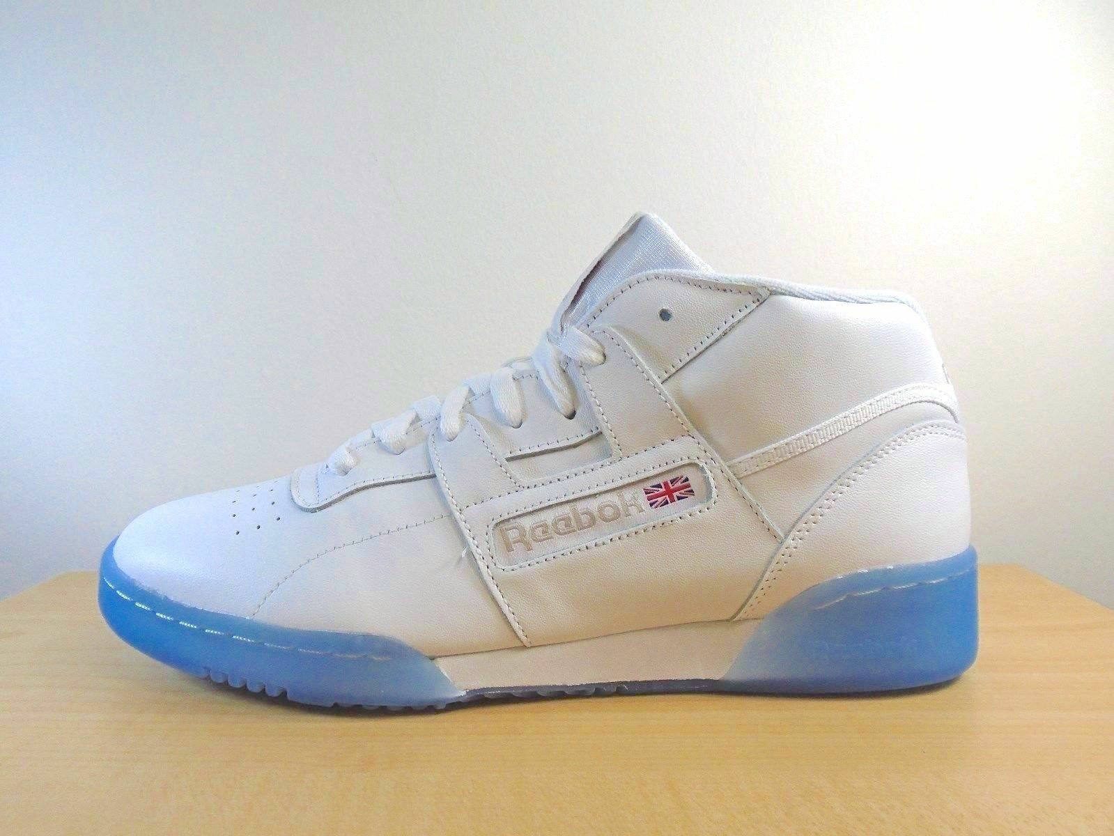 hommes REEBOK CLASSIC MID WORKOUT MID CLASSIC CLEAN BWI blanc/Steel/ rouge -BS7445- ATHLETIC bc2f36