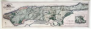 Hi-Q-XL-Format-1865-Viele-Map-of-Manhattan-Facsimile-Poster-New-York-City