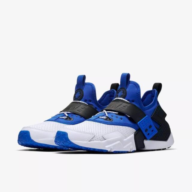 reputable site 2d06a 0e7ef NIKE Men s Air Huarache Drift Premium Shoes White Blue AH7335 103 SIZE 9 -  12