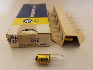 Box of 10 GE General Electric PR-6 PR6 Miniature Flashlight Lamps Light Bulbs