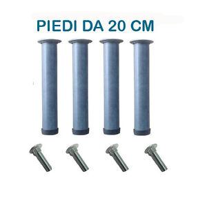 Piedi ferro rete ortopedica di ricambio zampe altezza 20cm per letto con bulloni ebay - Piedi per rete letto ...